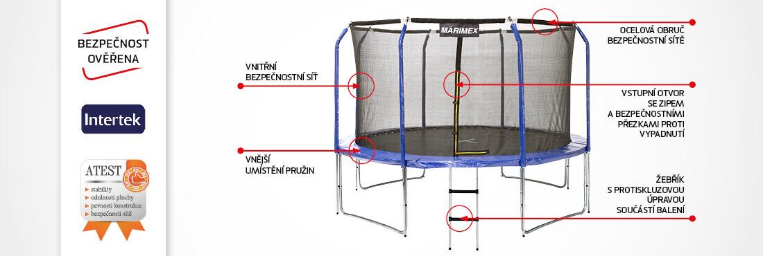 Trampolína Marimex 305 cm - bezpečnost