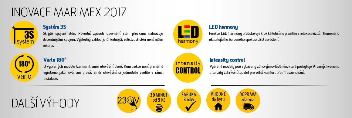 Inovace infrasaun Marimex pro rok 2017
