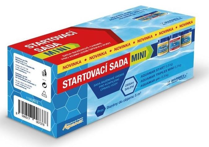 Marimex AquaMar chemický set Start MINI – 11307013; AquaMar Start 0,5kg, Aquamar Triplex MINI 0,5kg, AquaMar pH minus 0,5kg