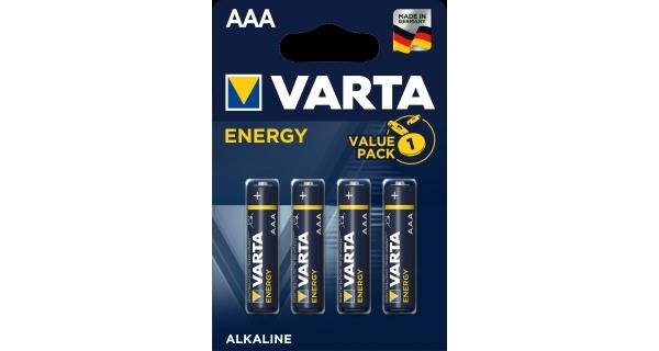 Baterie mikrotužkové (AAA) VARTA Energy - 4 ks