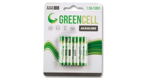 Baterie mikrotužkové GreenCell AAA - 4 ks