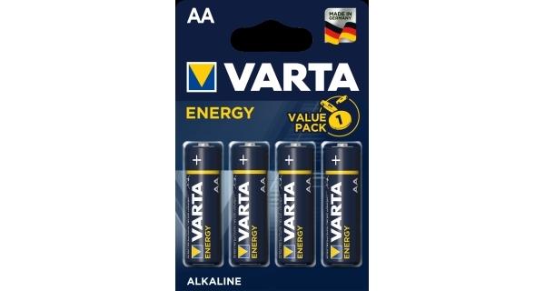 Baterie tužkové (AA) VARTA Energy - 4 ks