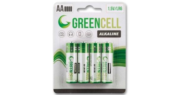 Baterie tužkové GreenCell AA - 4 ks