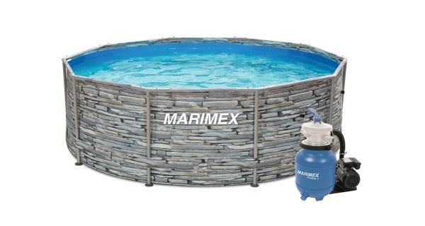 Bazén Florida 3,05x0,91 m s pískovou filtrací - motiv KÁMEN