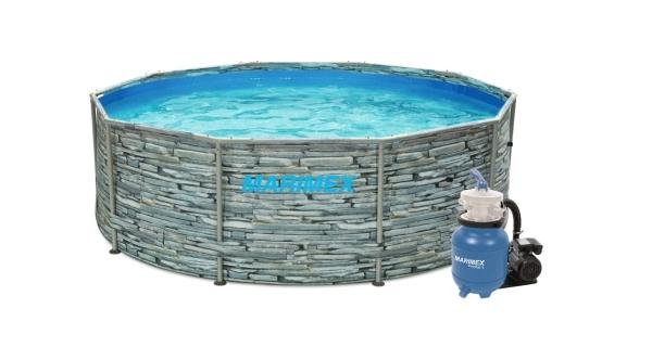 Bazén Florida 3,05x0,91 m s pískovou filtrací Prostar 3 - motiv KÁMEN