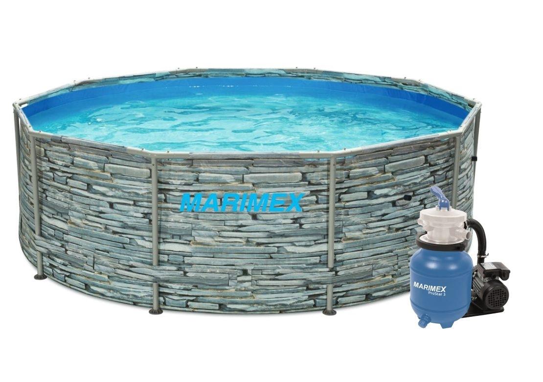 Marimex Bazén Florida 3,05x0,91 m s pískovou filtrací Prostar 3 - motiv KÁMEN - 19900100