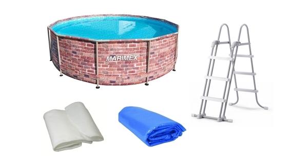 Bazén Florida 3,66x0,99 m. bez filtrace + příslušenství - motiv CIHLA