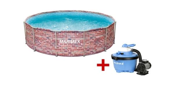 Bazén Florida 3,66x0,99 m. s pískovou filtrací - motiv CIHLA