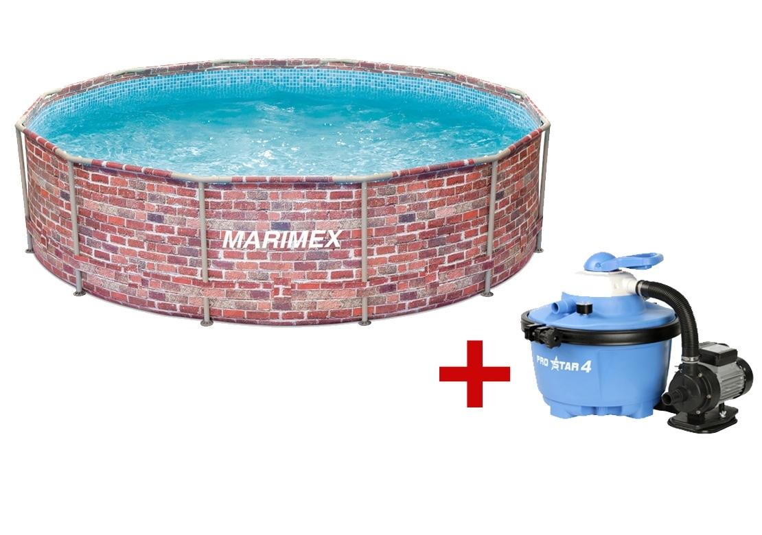 Marimex Bazén Florida 3,66x0,99 m. s pískovou filtrací - motiv CIHLA - 19900077