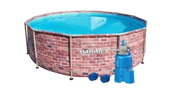 Bazén Florida 3,66x0,99 m s pískovou filtrací - motiv CIHLA