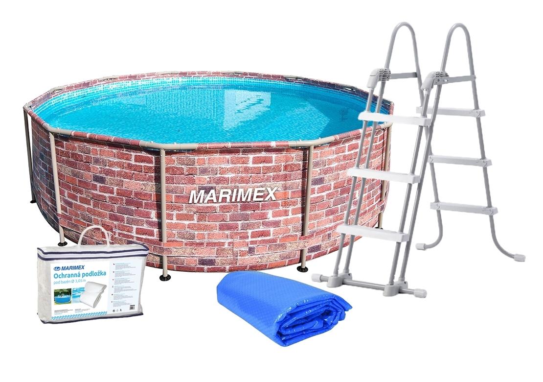 Marimex Bazén Florida 3,66x0,99 m s příslušenstvím - motiv CIHLA - 19900086