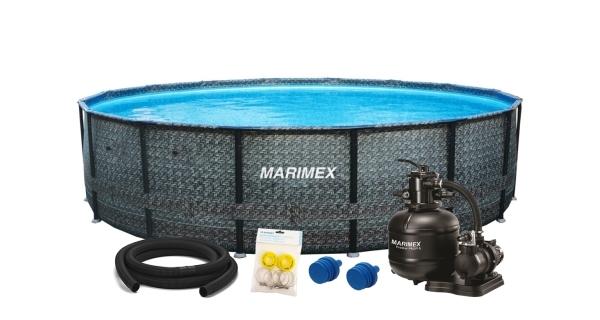 Bazén Florida 4,57x1,32 m s pískovou filtrací a příslušenstvím - motiv RATAN