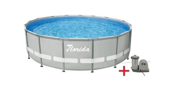 Bazén Florida Grey 4,88x1,22 m s kartušovou filtrací