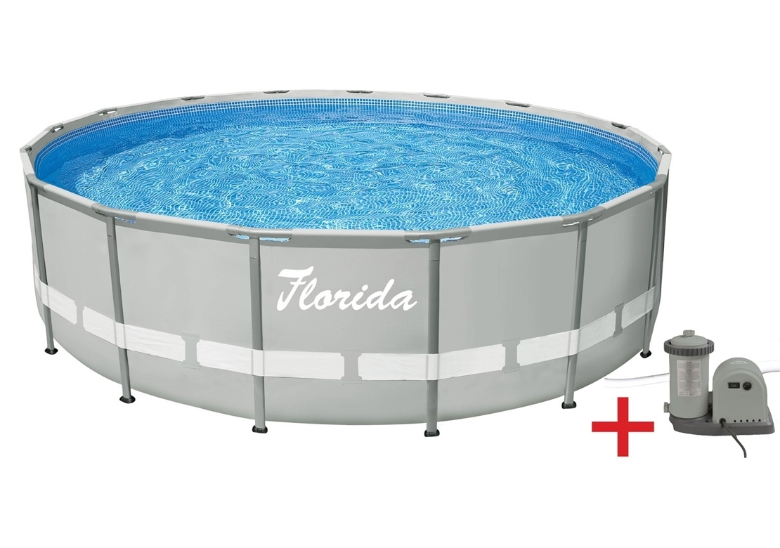 Marimex Bazén Florida Grey 4,88x1,22 m s kartušovou filtrací - 10340032