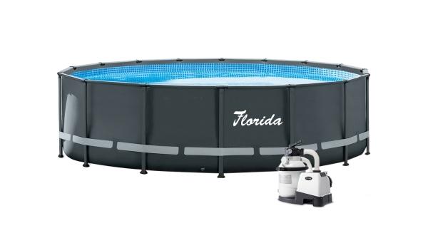 Bazén Florida Grey 4,88x1,22 m s pískovou filtrací Sand 4