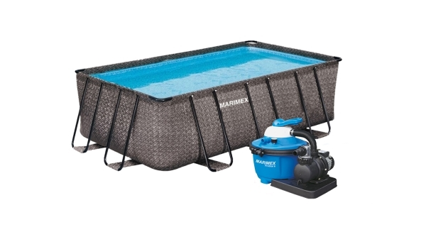 Bazén Florida Premium 2,15x4,00x1,22 m s pískovou filtrací - motiv RATAN