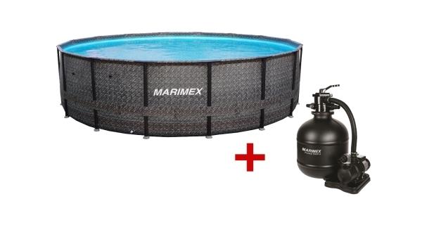 Bazén Florida Premium 4,88x1,22 m s filtrací - motiv RATAN
