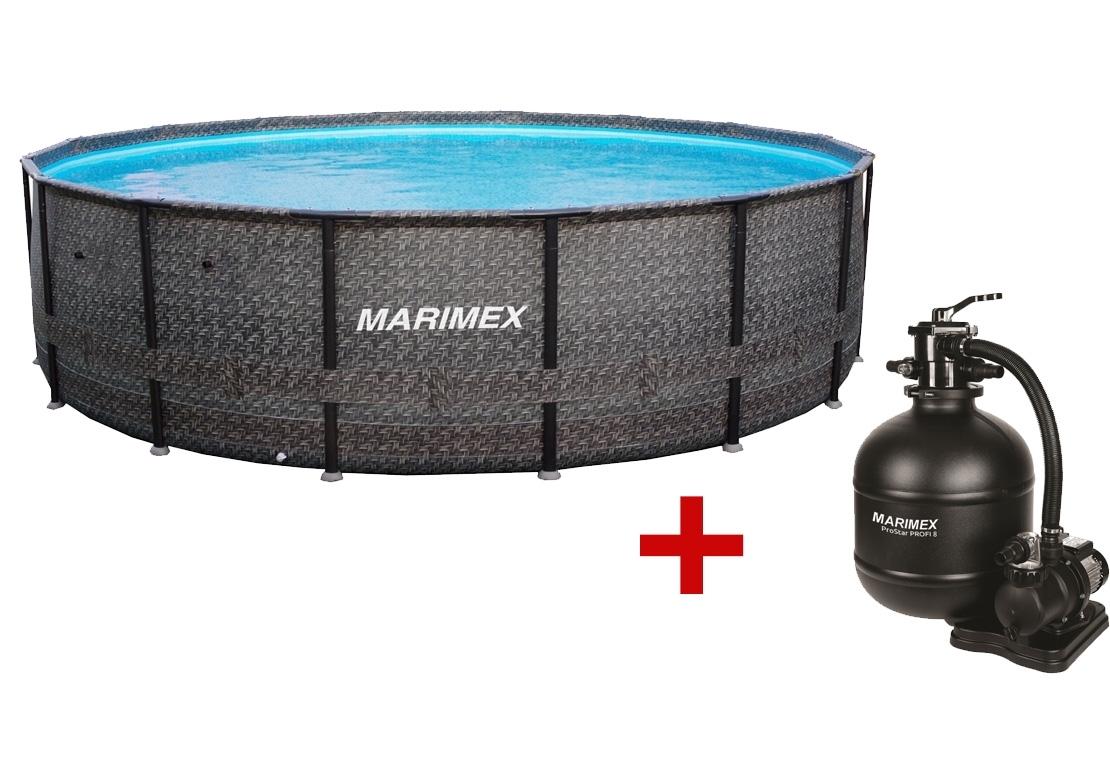 Marimex Bazén Florida Premium 4,88x1,22 m s filtrací - motiv RATAN - 19900084