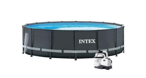 Bazén Florida Premium Grey 4,88x1,22 m s pískovou filtrací a příslušenstvím