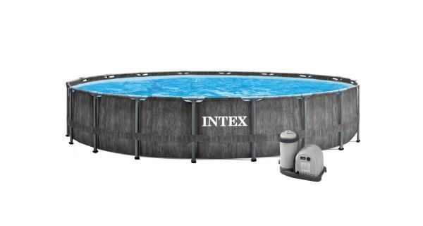Bazén Florida Premium Greywood 4,57x1,22 m s kartušovou filtrací a příslušenstvím