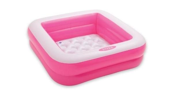 Bazén nafukovací čtverec - růžový
