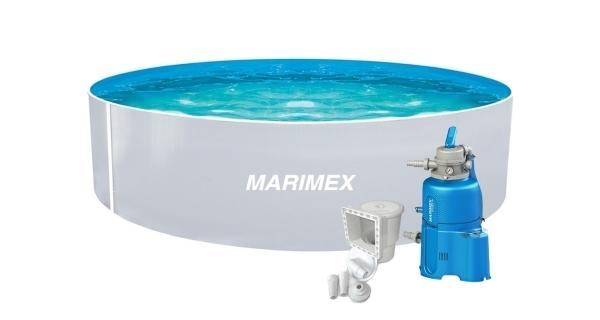 Bazén Orlando 3,66x0,91 m s pískovou filtrací a příslušenstvím - motiv bílý