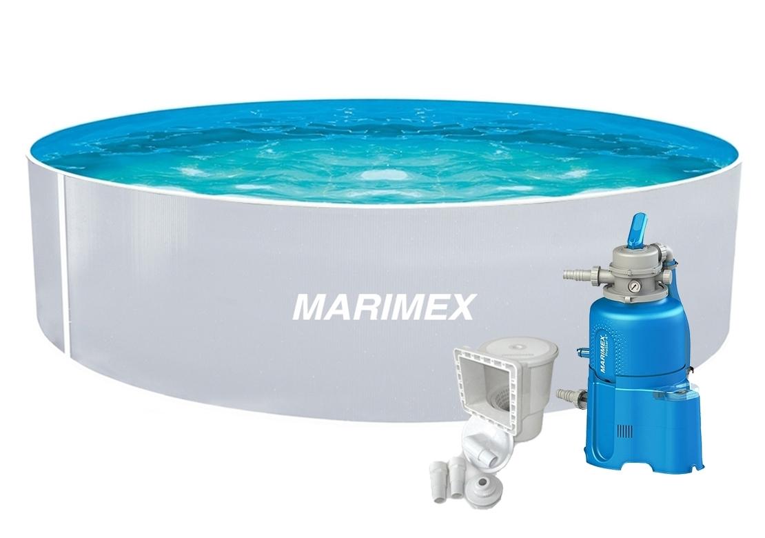 Marimex Bazén Orlando 3,66x0,91 m s pískovou filtrací a příslušenstvím - motiv bílý - 19900125