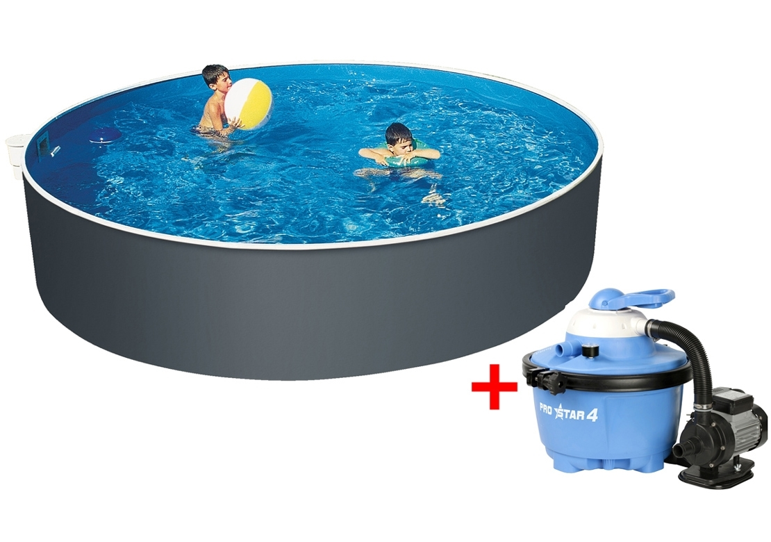 Marimex Bazén Orlando 3,66x1,07 m s pískovou filtrací ProStar 4 a příslušenstvím - 19900043