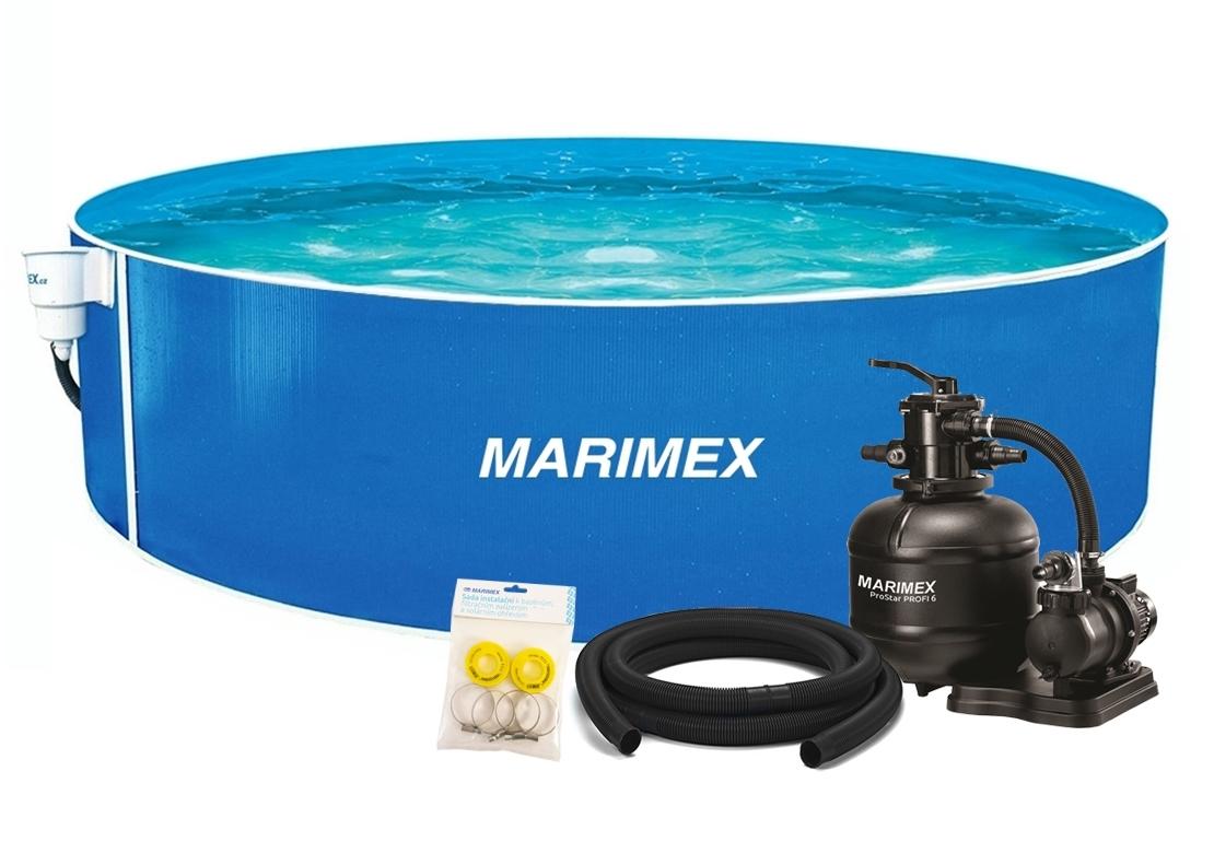 Marimex Bazén Orlando 4,57x1,07 m s pískovou filtrací a příslušenstvím - 19900126