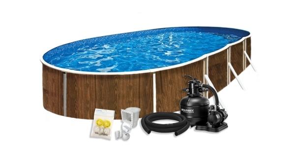 Bazén Orlando Premium DL 3,66x7,32x1,22 m s pískovou filtrací a příslušenstvím