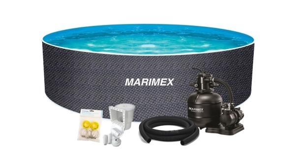 Bazén Orlando Premium DL 4,60x1,22 m s pískovou filtrací a příslušenstvím - motiv RATAN