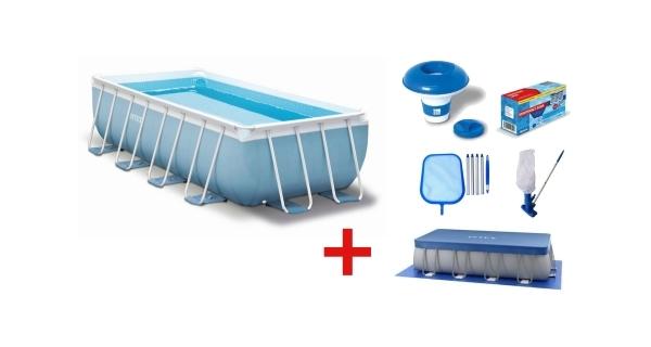 Bazén Tahiti 2,00 x 4,00 x 1,00 m s kartušovou filtrací a příslušenstvím
