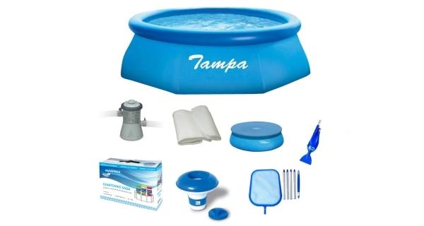 Bazén Tampa 3,05x0,76 m. - kompletní rodinný set