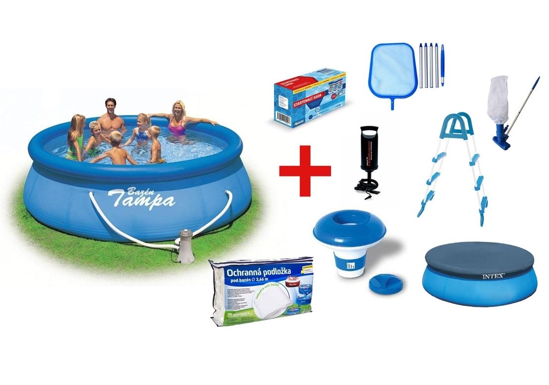 Marimex Bazén Tampa 3,66 x 0,91 m s kartušovou filtrací a příslušenstvím - 19900038