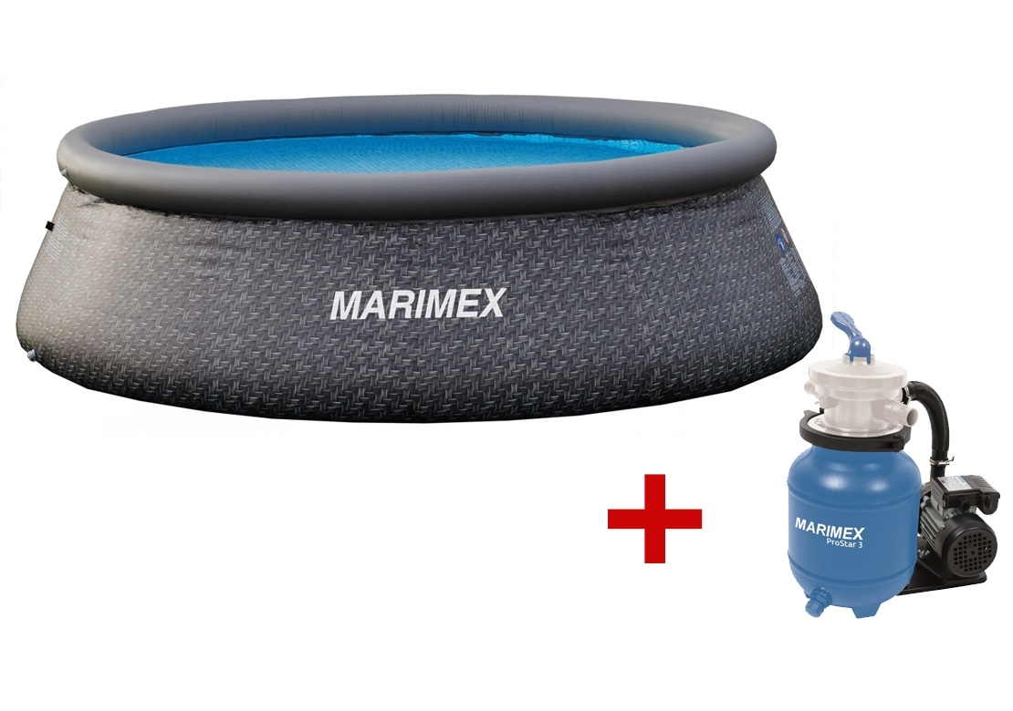 Marimex Bazén Tampa 3,66x0,91 m s filtrací - motiv RATAN - 19900082