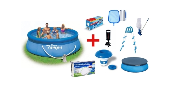 Bazén Tampa 3,66x0,91 m s kartušovou filtrací  a příslušenstvím