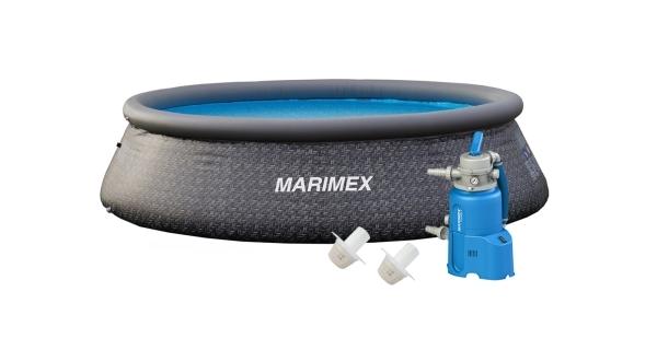Bazén Tampa 3,66x0,91 m s pískovou filtrací - motiv RATAN