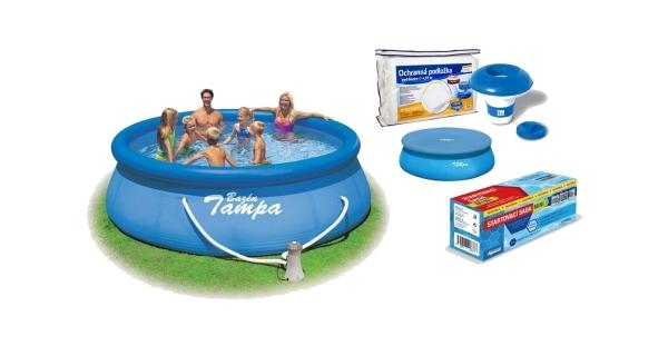Bazén Tampa 3,96x0,84 m s kartušovou filtrací a příslušenstvím