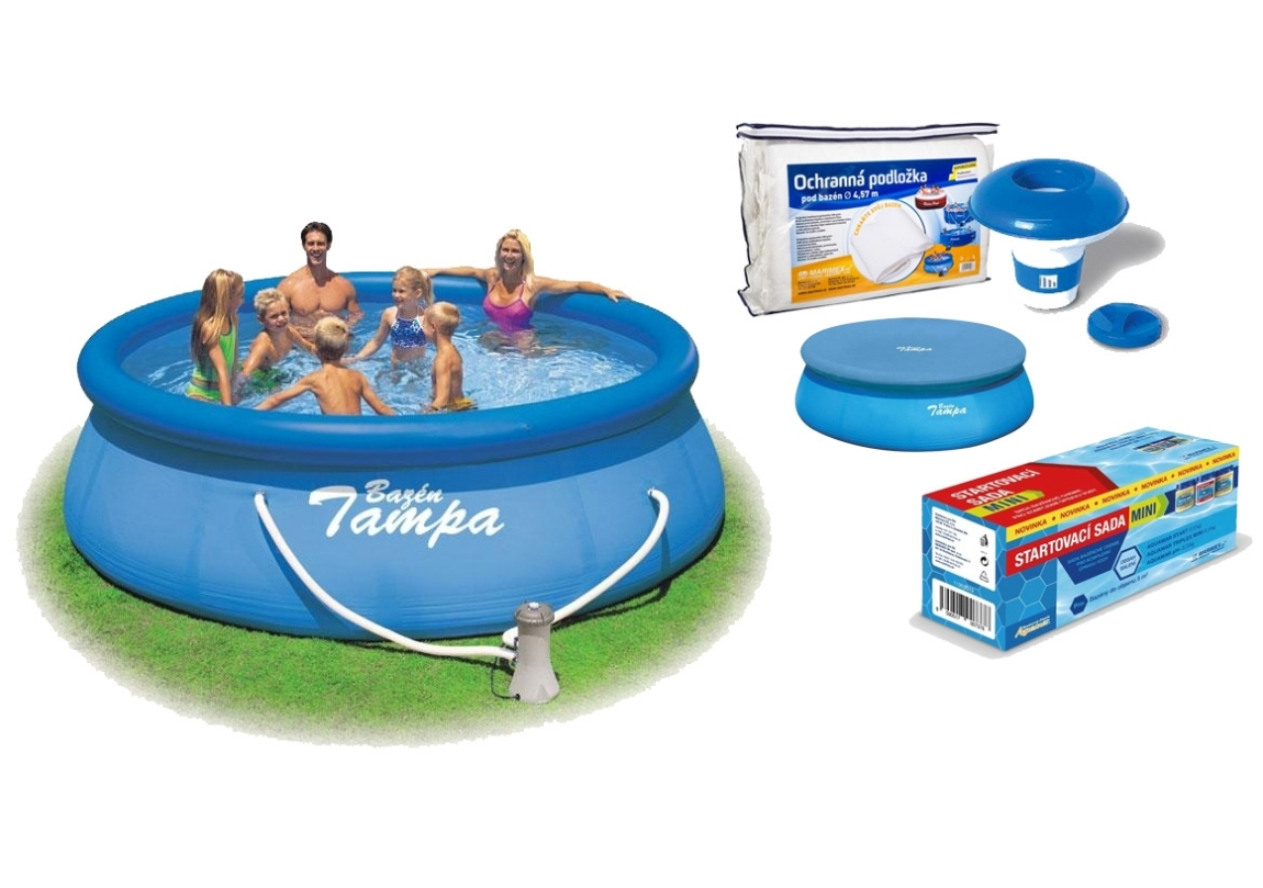 Marimex Bazén Tampa 3,96x0,84 m s kartušovou filtrací a příslušenstvím - 19900009