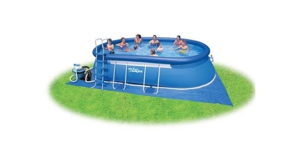 Bazén Tampa ovál 3,05x5,49x1,07 m s pískovou filtrací