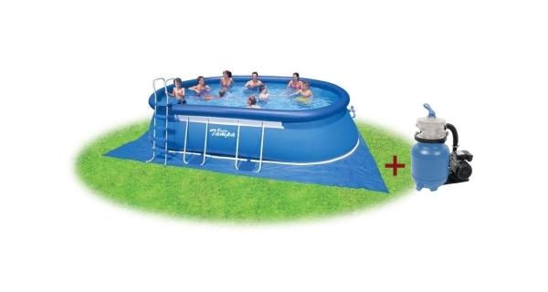 Bazén Tampa ovál 3,05x5,49x1,07 m s pískovou filtrací ProStar 3