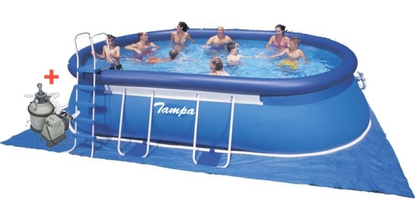 Bazén Tampa ovál 3,05x5,49x1,07 m s pískovou filtrací Sand 4