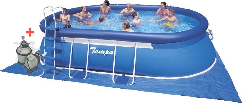 Marimex Bazén Tampa ovál 3,05x5,49x1,07 m s pískovou filtrací Sand 4 - 10340129