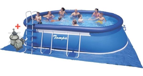 Bazén Tampa ovál 3,66x6,10x1,22 m s pískovou filtrací Sand 4