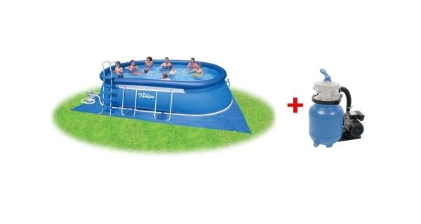 Bazén Tampa ovál 3,66x6,10x1,22 s pískovou filtrací Prostar 3