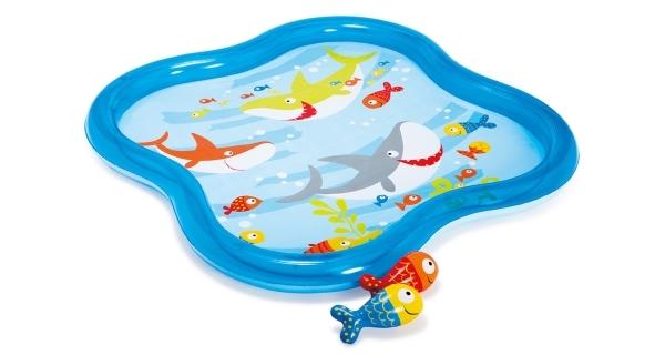 Bazének dětský čtvercový s fontánkou