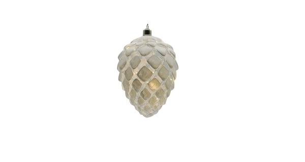 Crystal závěsná bílá šiška 10 LED