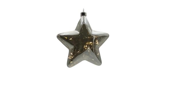 Crystal závěsná hvězda 12 LED