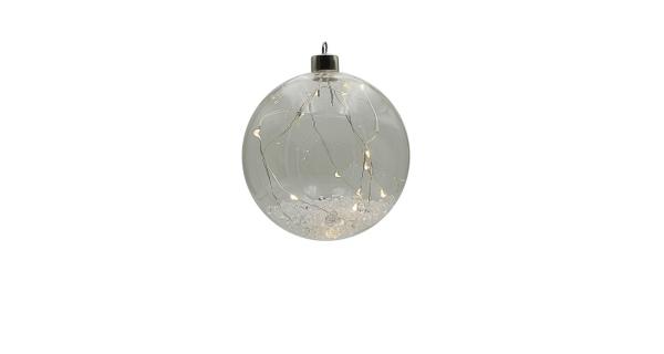 Crystal závěsná koule se strunou 12 LED
