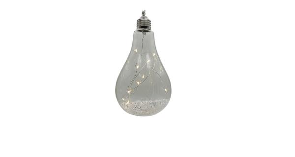Crystal závěsná žárovka 12 LED